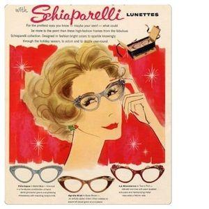 69c0b1d124 Elsa Schiaparelli Accessories - Vintage 1958 Schiaparelli Cats Eye  Sunglasses